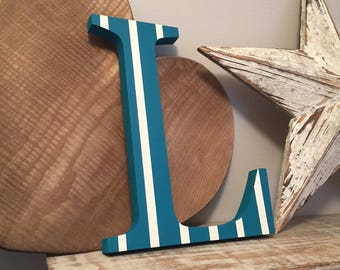 Painted Wooden Letter L - Large , Georgia Font, 50cm high, almost 20 inch, any colour, wall letter, wall decor, 18mm, price per letter