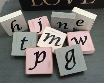 Wedding favours, wedding favors, personalised wedding block, place names,table setting, initial, various colours - 6cm chunky, price for one