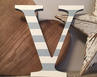 Wooden Letter 'V' - 30cm - Georgian Font - various finishes, standing