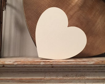 Hand-painted Wooden Heart, 9mm thick, Various sizes, finishes and colours