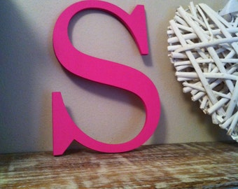 Wooden Letter 'S' - 30cm, 9mm thick, various colours and finishes available