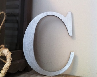 Wooden Wall Letter - Hand-Painted - Roman Font - C - Various sizes and colours, 6 inch to 14 inch, painted letter