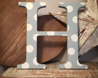 Wooden Letter H - 20cm, Freestanding - Georgian Font - Various sizes, finishes and colours
