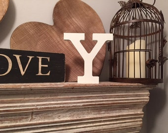 Painted Wooden Letter Y - Freestanding - Rockwell Font - Various sizes, finishes and colours, 15cm high, 18mm thick