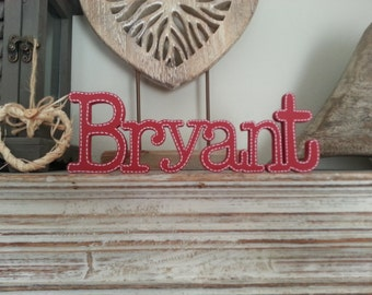 Personalised Wooden Name Sign - For Doors, Walls, Etc - Price is PER letter - 7cm