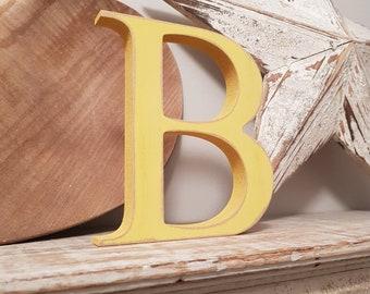 Wooden Letter B  - Freestanding - Georgia Font - 15cm