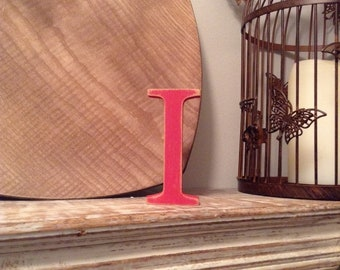 Wooden Letter I - 20cm, Freestanding - Georgian Font - Various sizes, finishes and colours