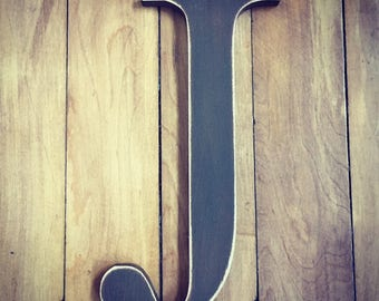 Wooden Wall Letter J - Painted Letter - New Times Roman Font - Various sizes, finishes and colours, 9mm thick