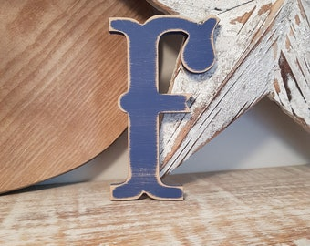 Painted Wooden Letter - Large Letter F,  Circus Font, 40cm high, 16 inch, any colour, wall letter, wall decor, 18mm