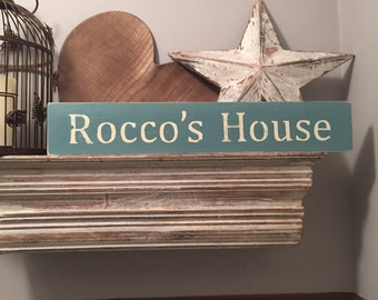 Large Wooden Sign - Dog Lovers, personlaised pet sign - Rustic, Handmade, Shabby Chic, personalised sign
