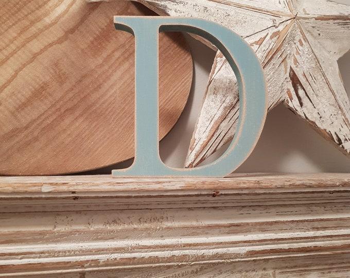 Wooden Letter 'D' -  30cm - Georgian Font - various finishes, standing