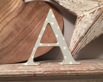 Painted Wooden Letter 'A' - 40cm - Georgia Style Font