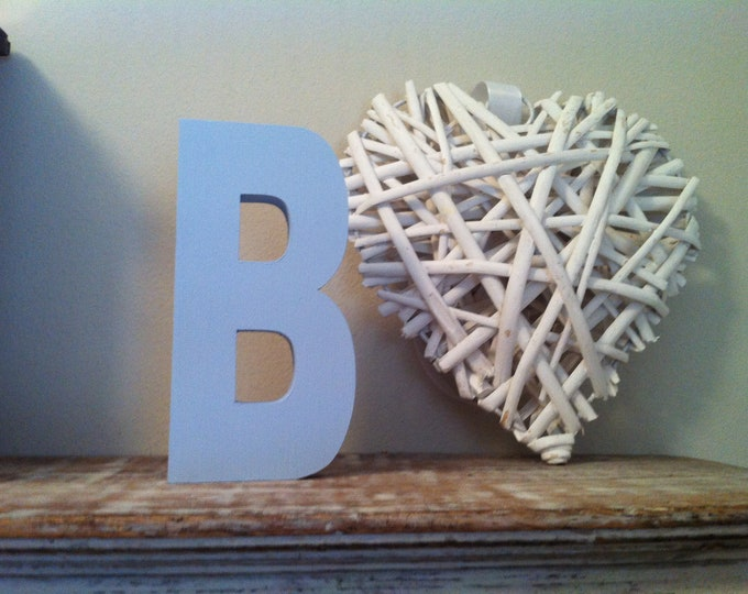 Wooden Letter 'B' -  20cm x 18mm - Arial B Font - various finishes, standing