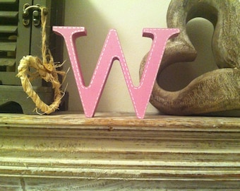 Wooden Letter W – Personalized Name Letter – Nursery Decoration Ideas – Rustic Room Décor – Georgian Style W – Decorative Wooden Sign
