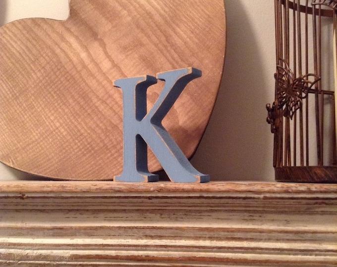 Wooden Letter 'K' - 15cm - Georgian Font - various finishes, standing