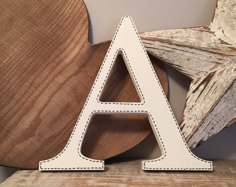 Wooden Letter 'A' - 15cm - Georgian Font - various finishes, standing