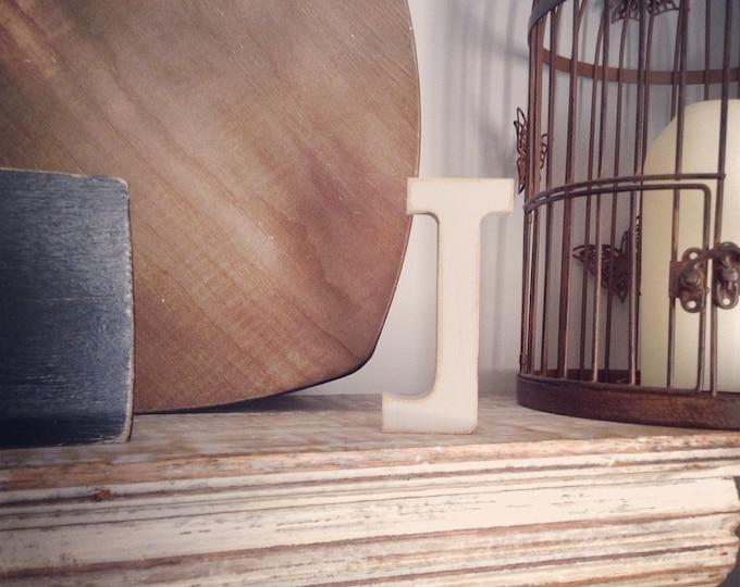 Wooden Letter 'J' - 20cm- Rockwell Font - various finishes, standing