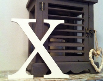 Wooden Letter X – Personalized Name Letter – Nursery Decoration Ideas – Rustic Room Décor – Georgian Style X – Decorative Wooden Sign