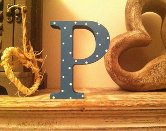 Wooden Letter 'P' - 30cm - Georgian Font - various finishes, standing