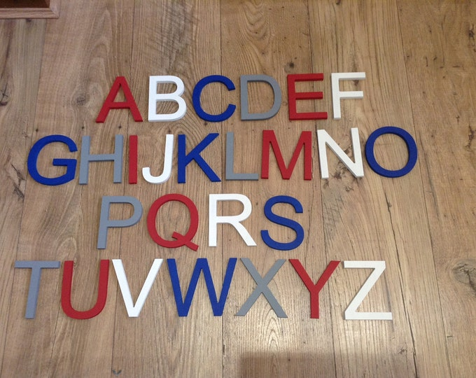 Clearance Wooden Alphabet - 10cm high - ready to ship