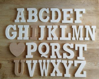 Full Wooden Alphabet - I LOVE YOU - Hand Painted Wooden Letters Set - 26 letters - 12cm high - Rockwell S Font, various colours to suit