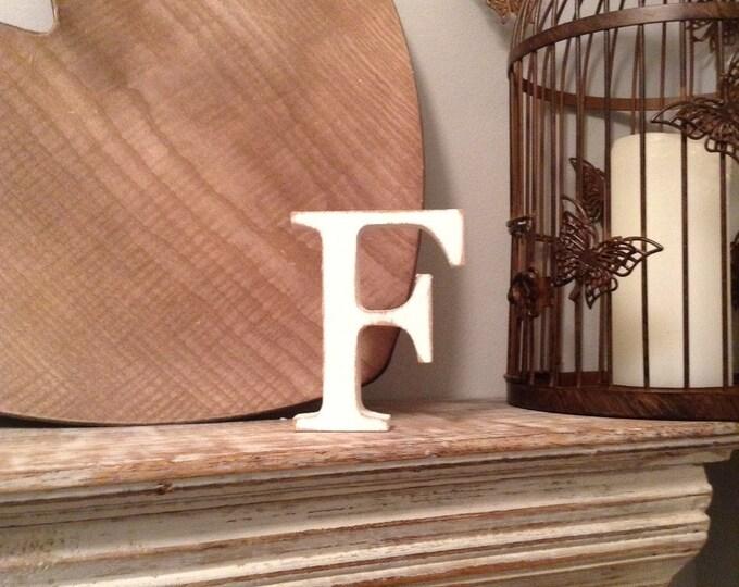Wooden Letter 'F' - 15cm - Georgian Font - various finishes, standing