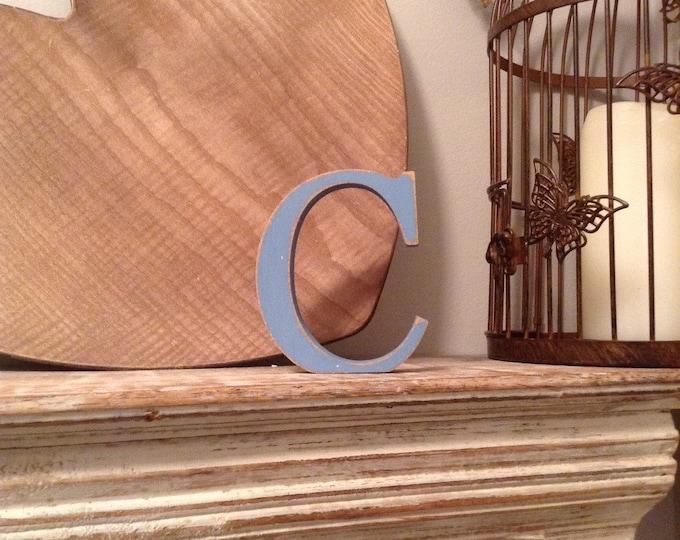 Wooden Letter 'C' -  10cm - Georgian Font - various finishes, standing