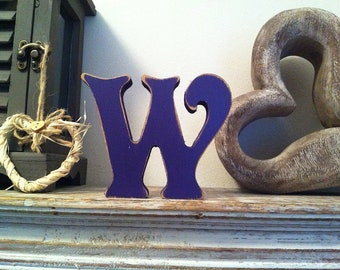Wooden Letter 'W' - 30cm - Victorian Font - various finishes, standing