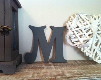 Wooden Wall Letter 'M' - Any Colour - 20cm, 9mm - Victorian Font