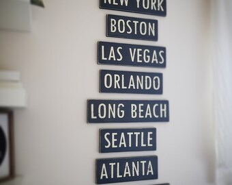 Painted Wooden Sign - Custom Sign, City, Town, State - Wall Decor - Rustic, Vintage, Shabby Chic,