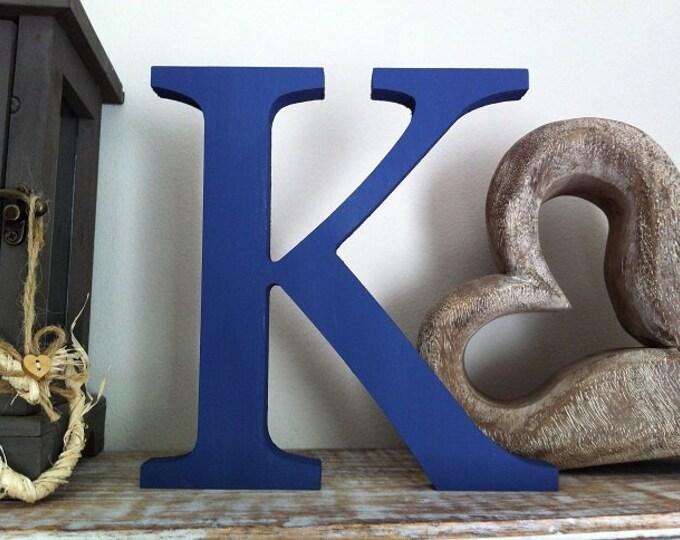 Wooden Letter 'K' - 10cm - Georgian Font - various finishes, standing