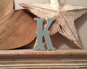 Painted Wooden Letter - Large Letter K,  Circus Font, 40cm high, 16 inch, any colour, wall letter, wall decor, 18mm