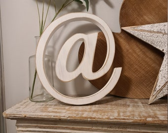 Wooden Letter '@' -  20cm x 25mm - Georgian Font - various finishes, standing