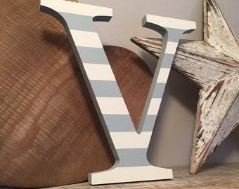Wooden Letter 'V' - 15cm - Georgian Font - various finishes, standing