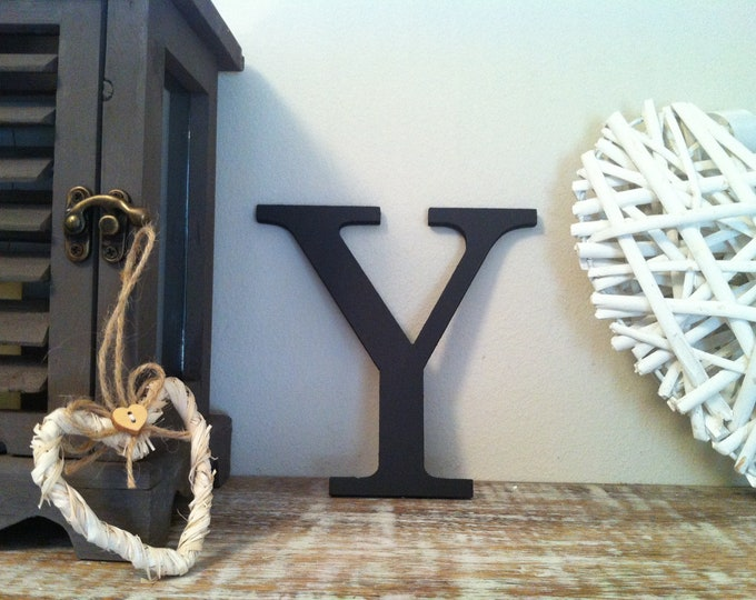Wooden Letter 'Y' -  25cm - Georgian Font - various finishes, standing