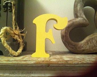 Wooden Letter 'F' - 30cm - Victorian Font - various finishes, standing
