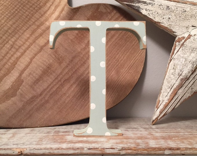 Wooden Letter 'T' -  25cm - Georgian Font - various finishes, standing