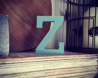 Wooden Letter 'Z'- 20cm- Rockwell Font - various finishes, standing