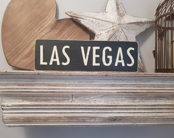 Painted Wooden Sign - Custom Sign, City, Town, State - Wall Decor - Rustic, Vintage, Shabby Chic, Las Vegas