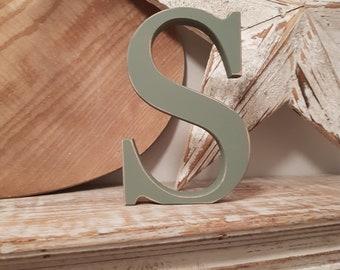 Wooden Letter 'S' - 30cm - Georgian Font - various finishes, standing