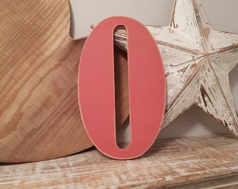 Wooden Letter O - painted and distressed - letter art, interior decor, 25cm, SALE, Clearance
