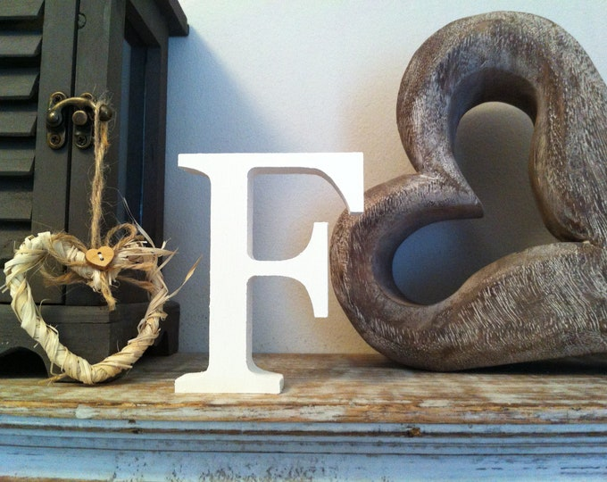 Wooden Letter 'F' -  20cm x 18mm - Georgian Font - various finishes, standing