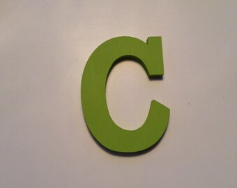 Wooden Wall Letter C - Rockwell S Font - Various sizes, finishes and colours - all letters available