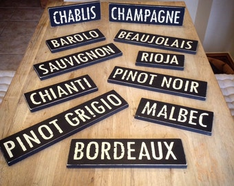 Handmade Wooden Sign - Wines & Spirits - Rustic, Vintage, Shabby Chic, Any sign made to order!