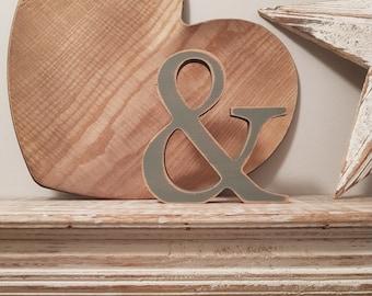 Wooden Letter '&' - ampersand -  25cm - Georgian Font - various finishes, standing