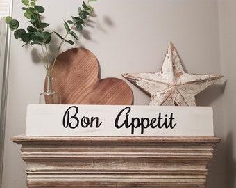 Handmade Wooden Sign - Bon Appetit - 60cm