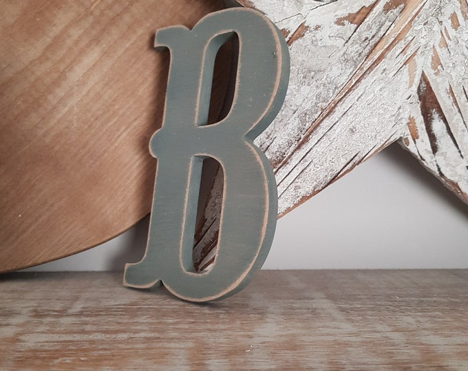 Wooden Letter 'B' -  15cm x 18mm - Circus Font - various finishes, standing