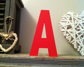 Wooden Letter 'A' -  15cm x 18mm - Arial B Font - various finishes, standing