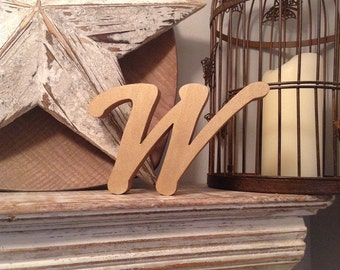 Painted Wooden Letter W - Freestanding - Machiarge Font - Various sizes, finishes and colours - 20cm