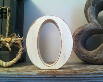 Wooden Wedding Letter 'O' - 15cm - Victorian Style Font - Free-standing - various colours and finishes